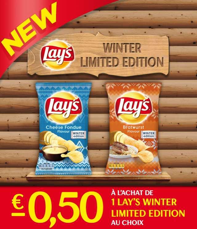 Cashback Lay's Winter Editions  €0,50 Remboursé sur myShopi