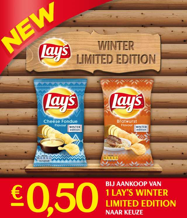 Lay's Winter Editions  €0,50 Terugbetaald cashback op myShopi