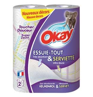 Cashback Okay Essuie-tout et Serviette 50% Remboursé sur myShopi
