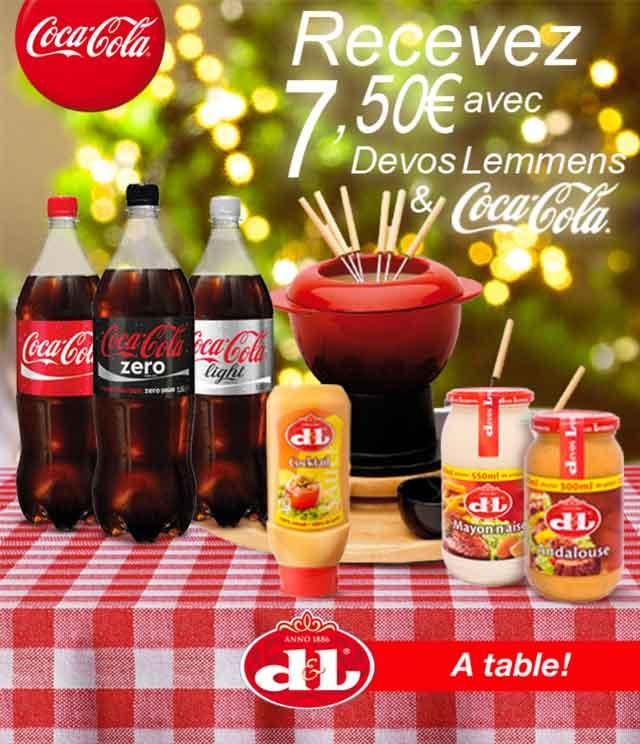 Cashback Coca-Cola & Devos Lemmens 7,50€ Remboursés sur myShopi