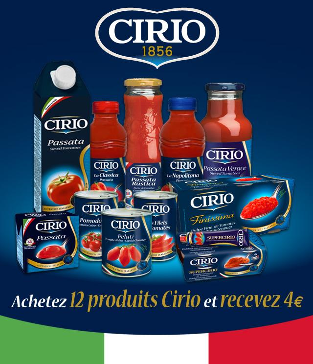 Cashback Action épargne Cirio 4€ remboursés sur myShopi