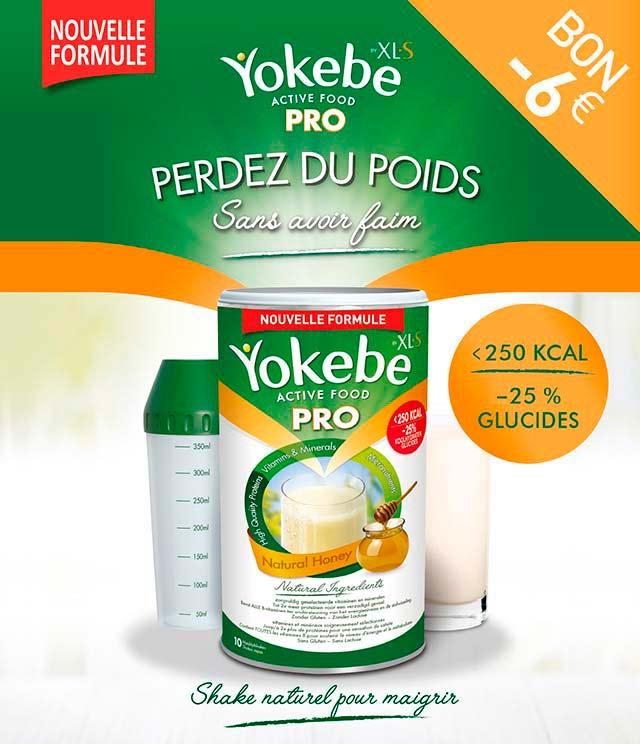 Cashback Yokebe Active Food PRO  6€ remboursés  sur myShopi