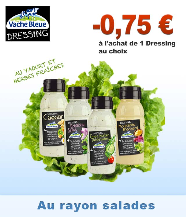 Cashback Vache Bleue Dressings 0,75€ Remboursés sur myShopi