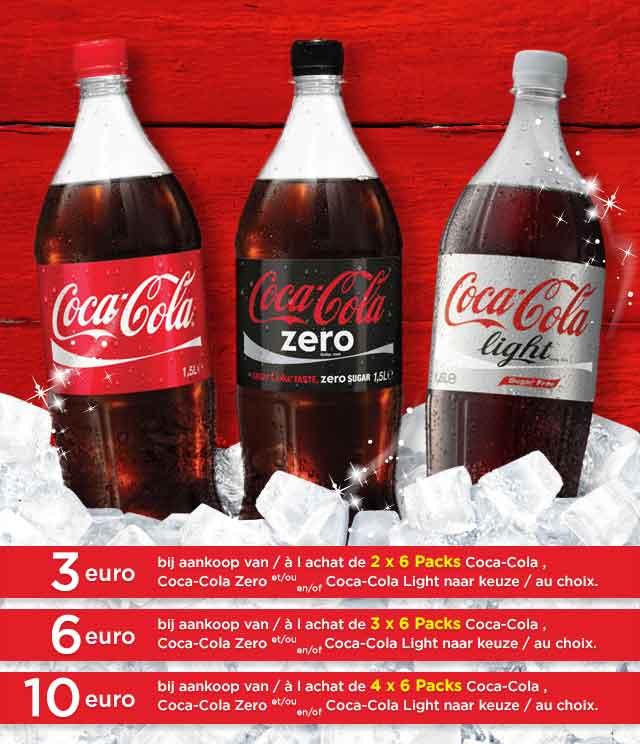 Coca-Cola -3€ / -6€ / -10€ cashback op myShopi