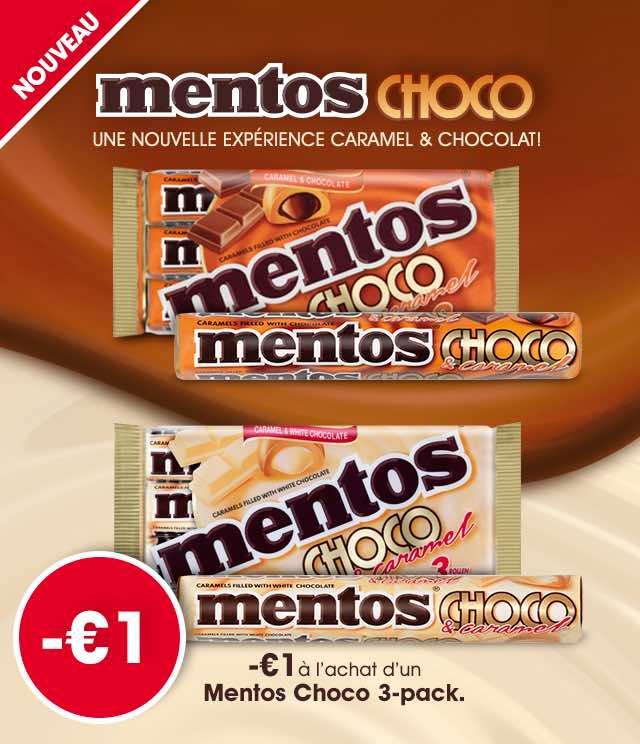 Cashback Mentos Choco 1€ Remboursé sur myShopi