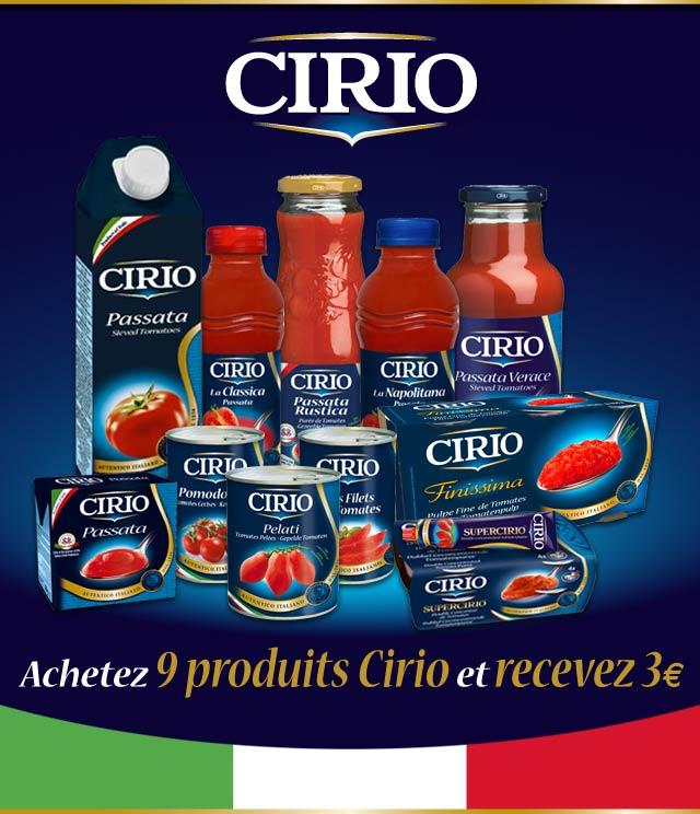 Cashback Action épargne Cirio 3€ Remboursés sur myShopi