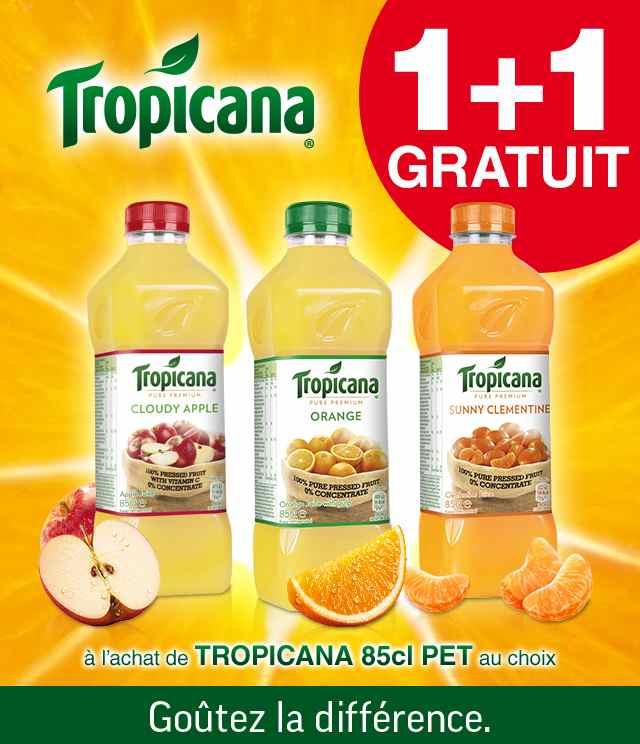 Cashback Tropicana 850ml 1 + 1 Gratuit sur myShopi