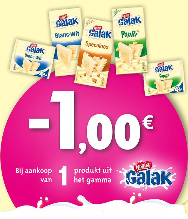 Galak chocoladetabletten €1 terugbetaald cashback op myShopi