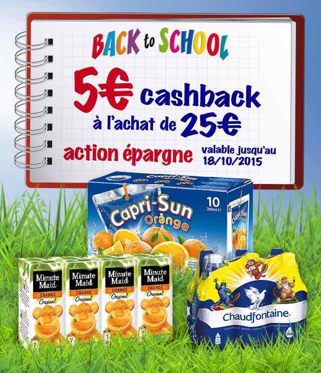 Cashback Action épargne Back To School 5€ Remboursés sur myShopi