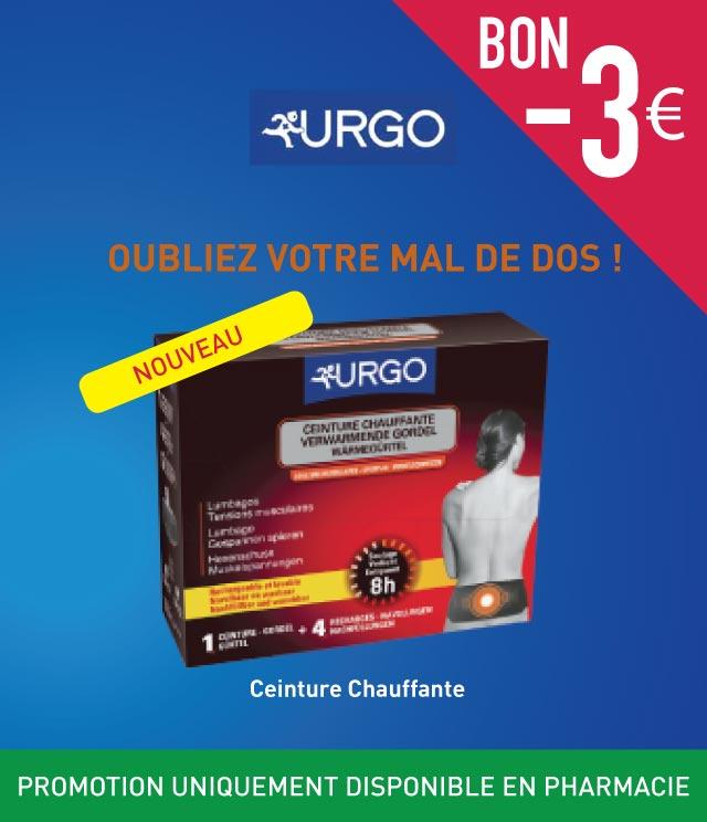Cashback Urgo Ceinture Chauffante €3 Remboursés sur myShopi