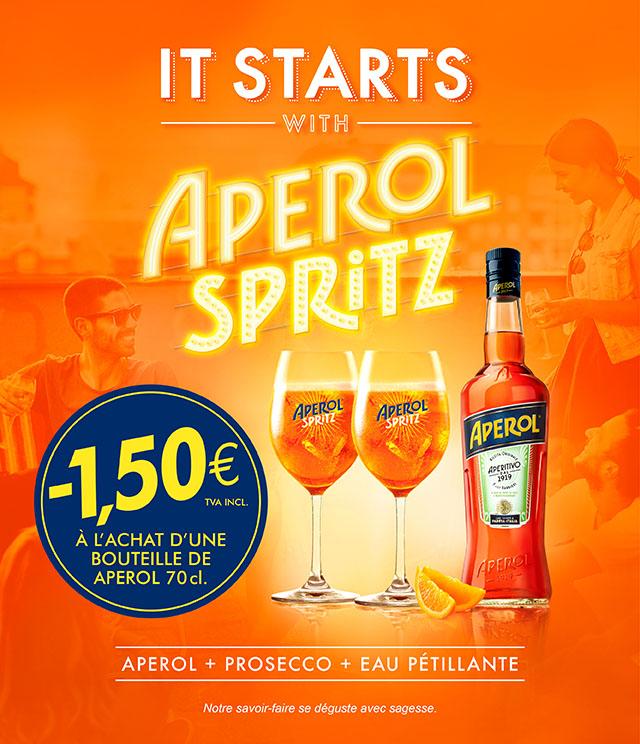 Cashback Aperol Summer Activation 1,5€ remboursés sur myShopi