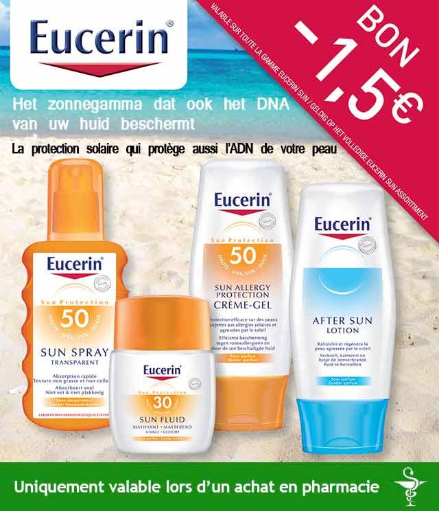 Cashback Eucerin Sun 1,50€ Remboursés sur myShopi