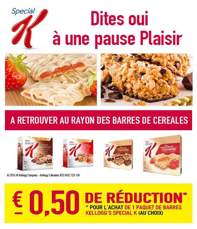 Cashback Kellogg's Special K Barres €0,50 Remboursé sur myShopi