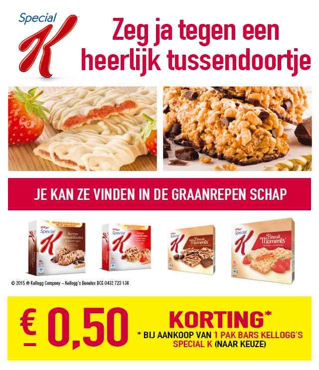 Kellogg's Special K Bars €0,50 Terugbetaald cashback op myShopi
