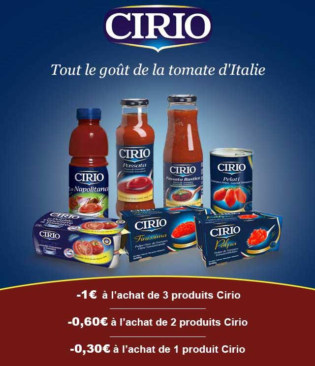 Cashback Cirio Jusqu'à 1€ sur myShopi