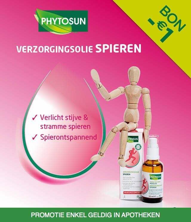 Phytosun - Verzorgingolie Spieren 1€ Terugbetaald cashback op myShopi