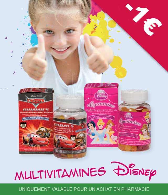 Cashback Disney Multivitamines 1€ Remboursé sur myShopi