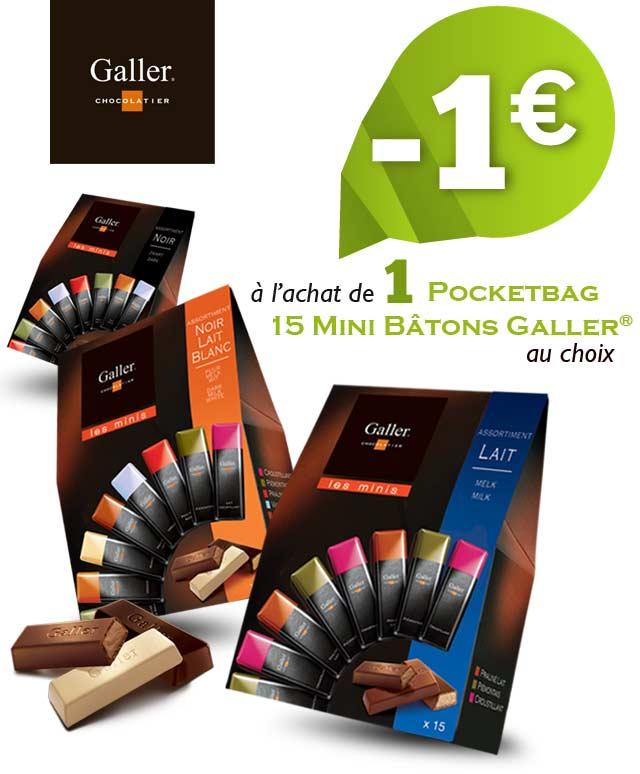 Cashback Galler Pocketbag Mini Bâtons 1€ Remboursé sur myShopi