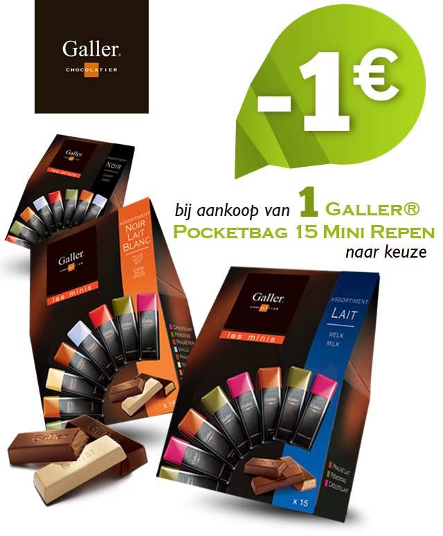 Galler Pocketbag Mini Repen 1€ Terugbetaald cashback op myShopi