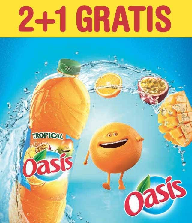 Oasis 2+1 Gratis cashback op myShopi