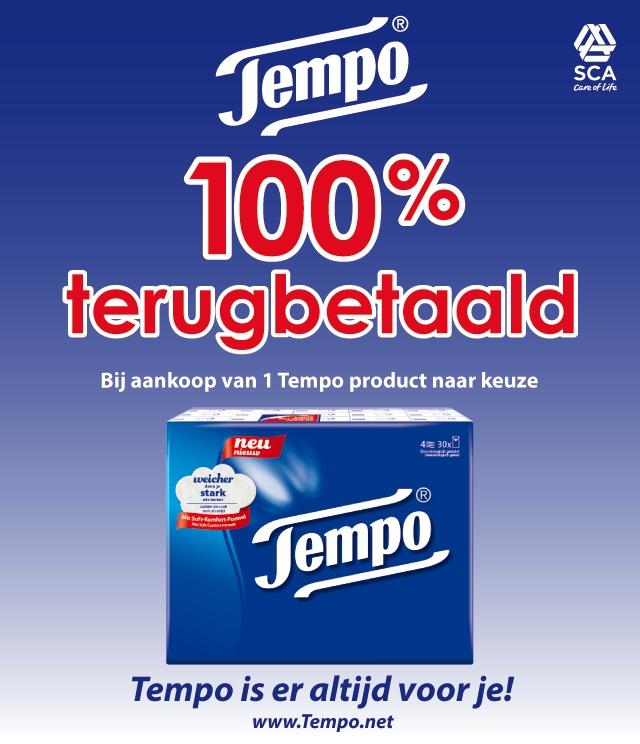 100% terugbetaald TEMPO zakdoeken 100% terugbetaald cashback op myShopi
