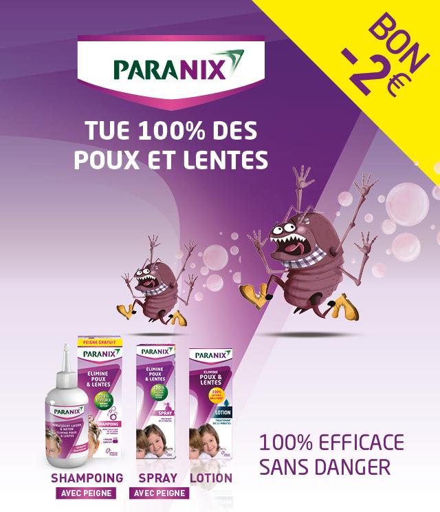Cashback Paranix 2€ Remboursés sur myShopi