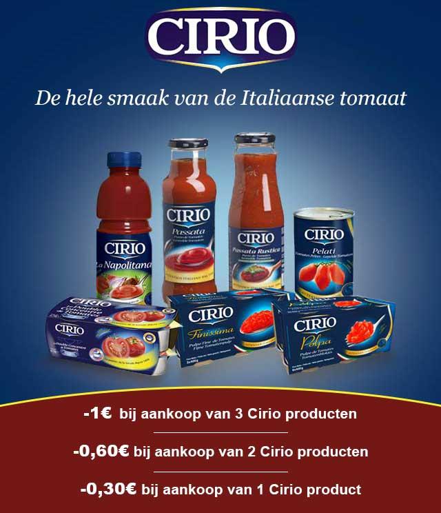 Cirio Tot 1€ Korting cashback op myShopi