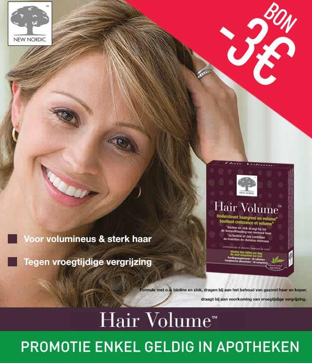 New Nordic Hair Volume  €3 Terugbetaald  cashback op myShopi