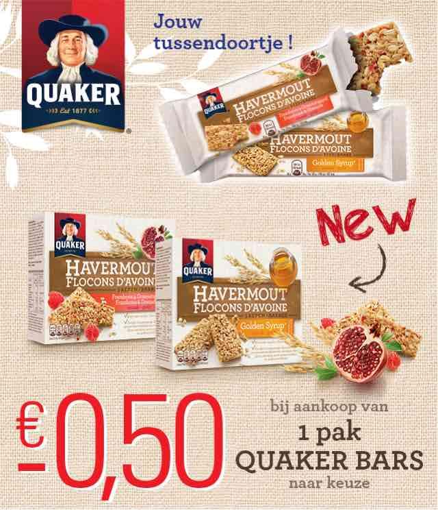 Quaker Havermoutrepen 0,50€ Terugbetaald cashback op myShopi