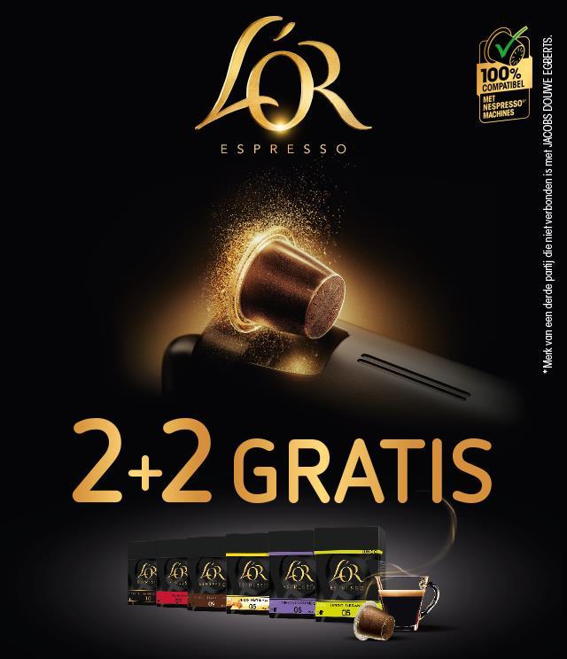 L'OR EspressO 2+2 gratis cashback op myShopi