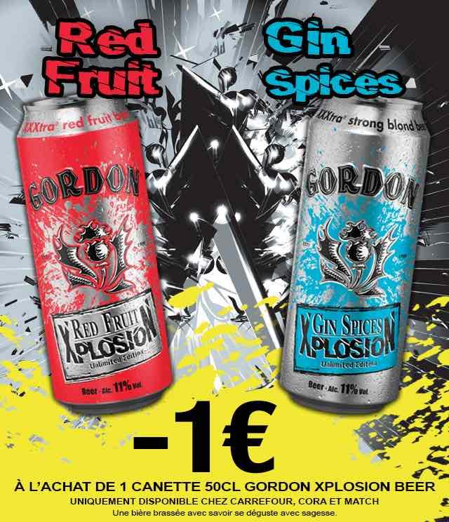 Cashback Gordon Xplosion Bière €1 Remboursé sur myShopi