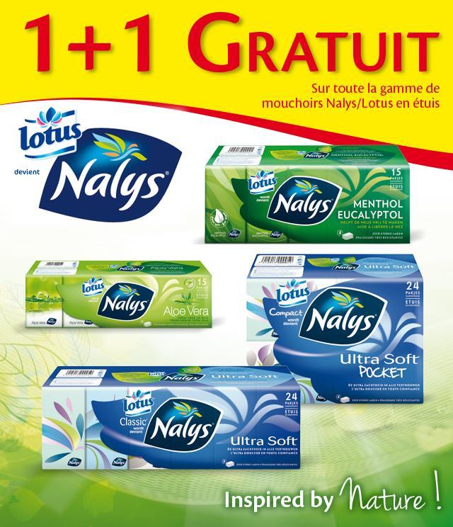 Cashback Nalys Lotus Mouchoirs en étuis 1+1 Gratuit  sur myShopi