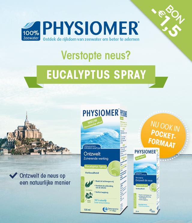 Physiomer Eucalyptus Spray 1,50€ Terugbetaald cashback op myShopi