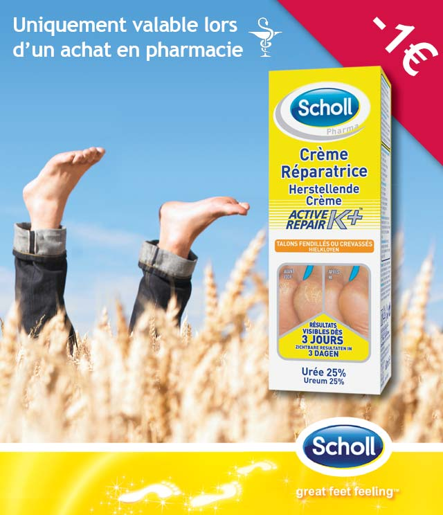 Cashback Scholl Pharma Crème Réparatrice 1€ Remboursé sur myShopi