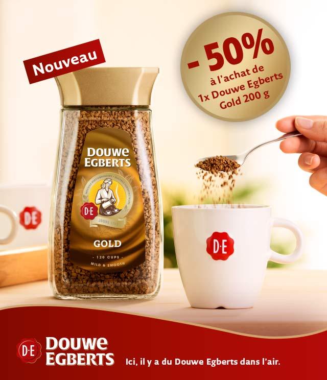 Cashback Douwe Egberts Gold café instantané 50% Remboursés sur myShopi