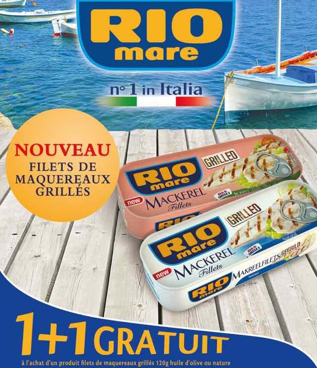Cashback Rio Mare filets de maquereaux grillés 1+1 Gratuit sur myShopi