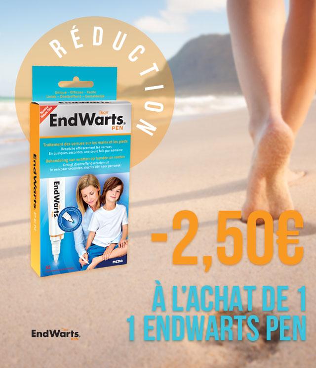 Cashback EndWarts Verrues 2,5€ Remboursés sur myShopi