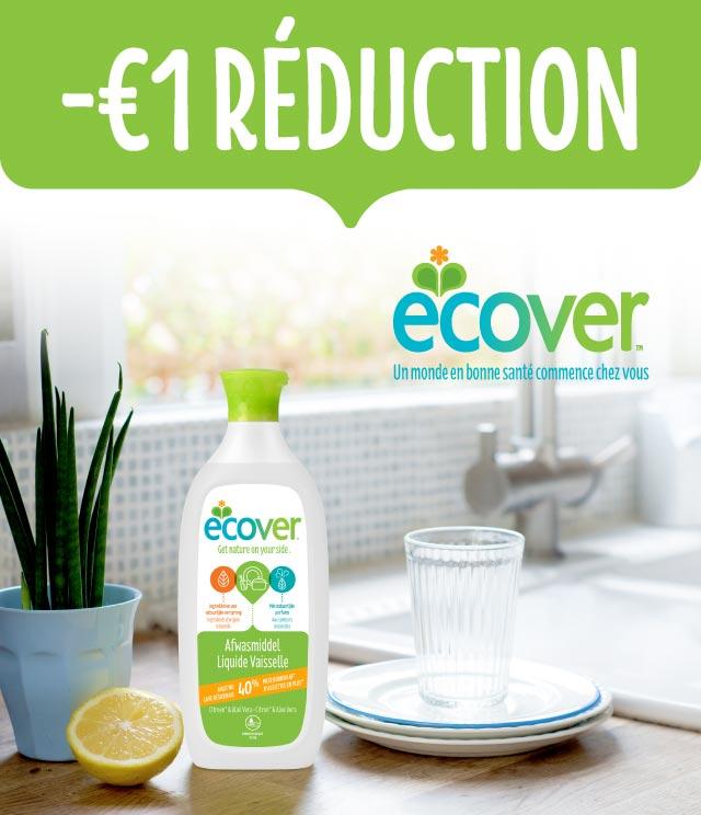 Cashback Ecover Liquide Vaisselle  1€ remboursé sur myShopi