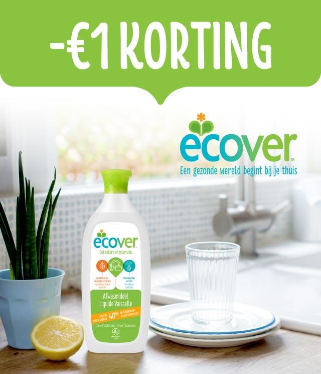 Ecover Afwasmiddel 1€ terugbetaald cashback op myShopi