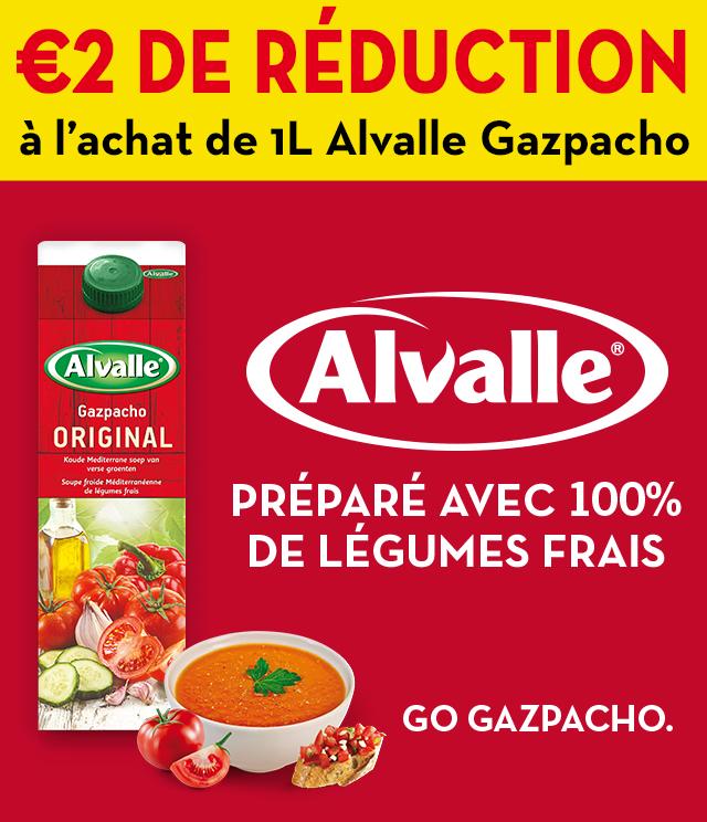 Cashback Alvalle Gazpacho 2€ remboursés sur myShopi