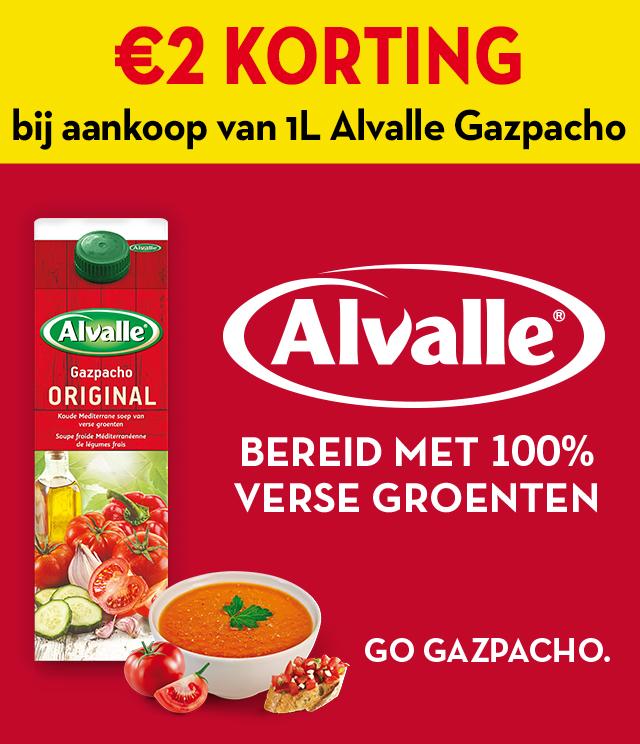 Alvalle Gazpacho €2 terugbetaald cashback op myShopi