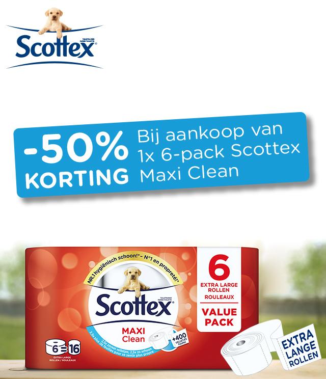 Scottex Maxi Clean  50% terugbetaald cashback op myShopi