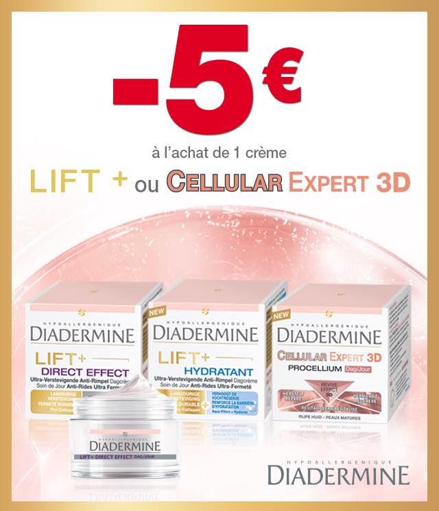Cashback Diadermine Lift + ou Cellular Expert 3D 5€ Remboursés sur myShopi