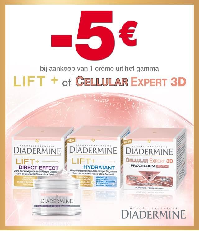 Diadermine Lift + of Cellular Expert 3D 5€ Terugbetaald cashback op myShopi