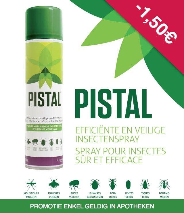 Pistal - Insectenspray 1,50€ Terugbetaald cashback op myShopi