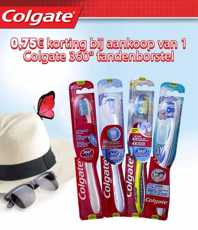Colgate 360° Tandenborstel 0,75€ Terugbetaald cashback op myShopi