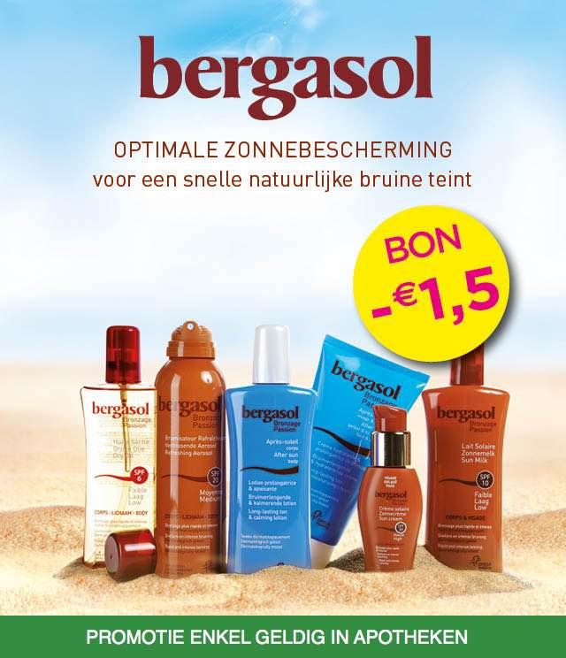Bergasol - Zonneproducten 1,50€ Terugbetaald cashback op myShopi