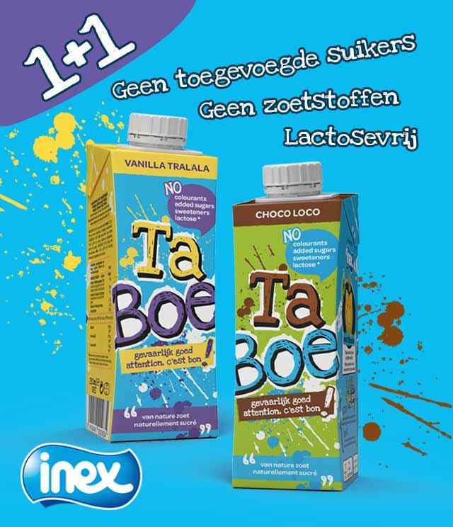 TaBoe milk by INEX 1+1 gratis cashback op myShopi