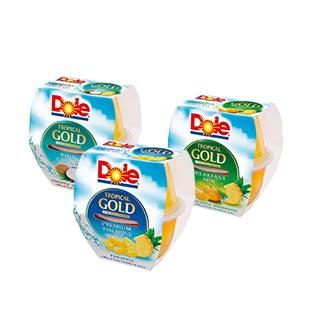 Cashback Dole Tropical Gold Fruit Cups 1 + 1 Gratuit sur myShopi