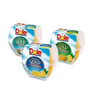 myShopi - Promotie Dole Tropical Gold Fruit Cups 1 + 1 Gratis